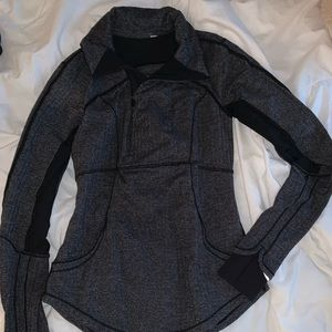 gray lululemon quarter zip
